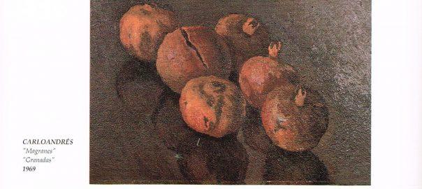 """""""Magranes"""" Oli sobre llenç. Carloandrés. Col·lecció particular Ramon Medina. Catàleg d'Eivissa a l'Exposició Mundial de Sevilla de 1992"""