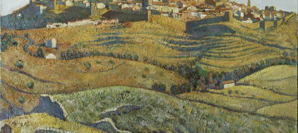 Vista de Morella. Oli sobre llenç. 81 x 100. Carloandrés. Col·lecció particular de l'Ajuntament de Morella
