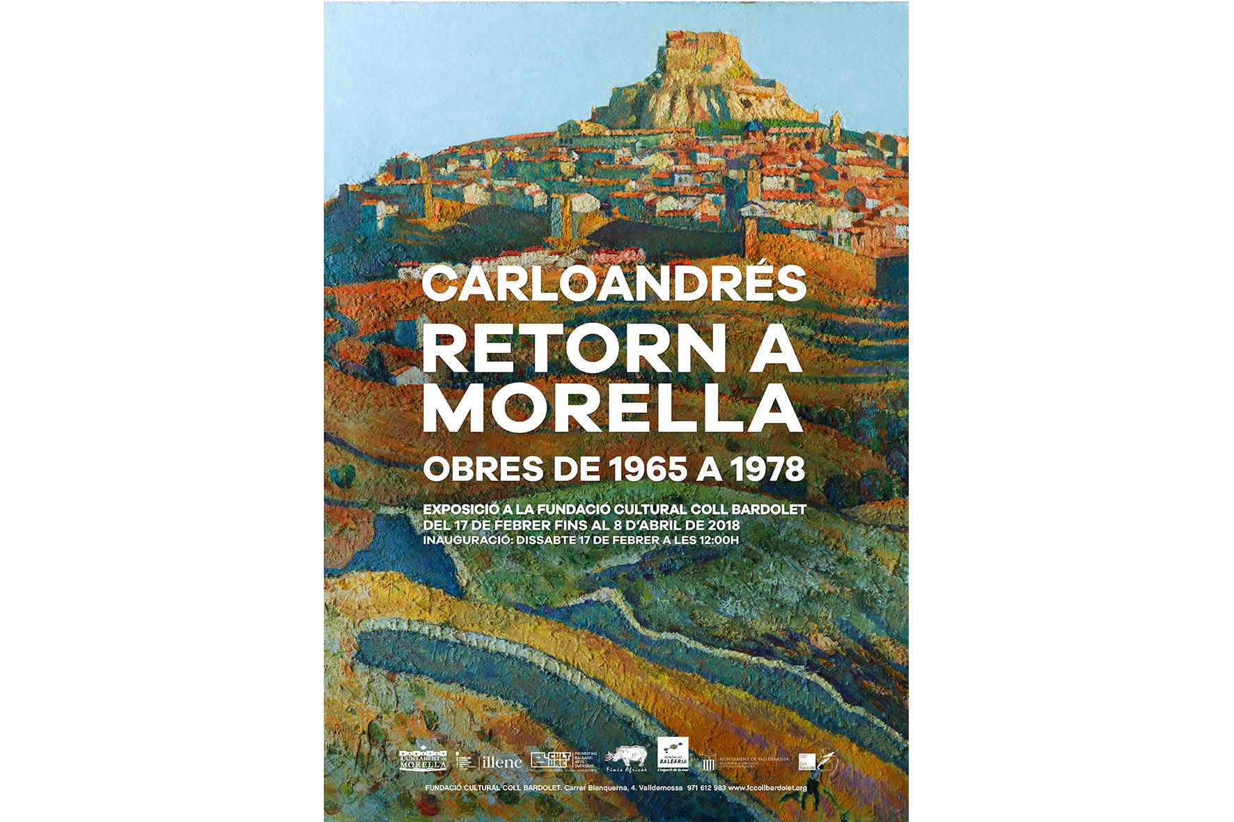 Cartell exposició Carloandrés Morella a Mallorca
